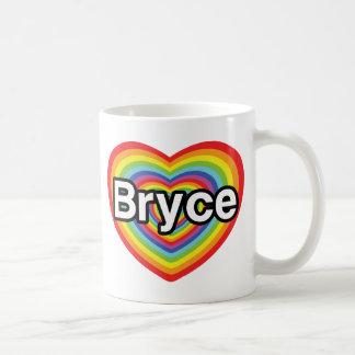 I love Bryce: rainbow heart Coffee Mugs