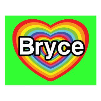 I love Bryce: rainbow heart Post Card