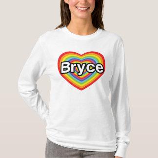 I love Bryce: rainbow heart T-Shirt