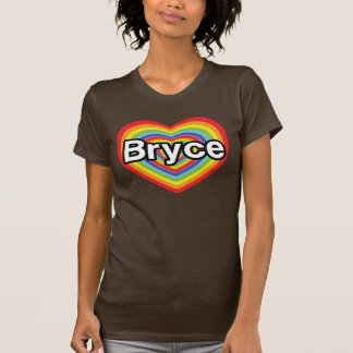 I love Bryce: rainbow heart Tshirt