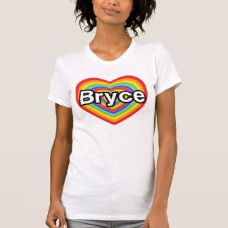 I love Bryce: rainbow heart Tee Shirts