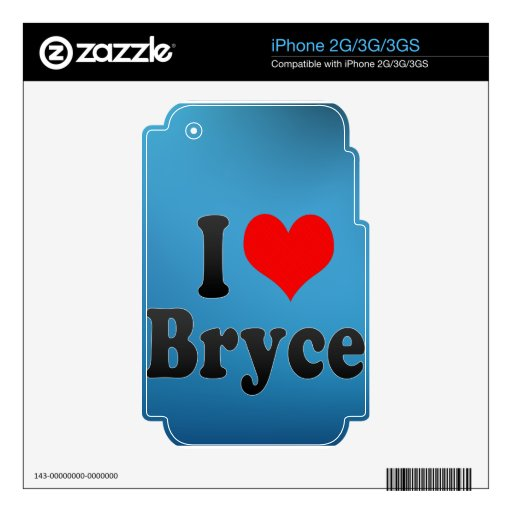 I love Bryce Skins For iPhone 3G