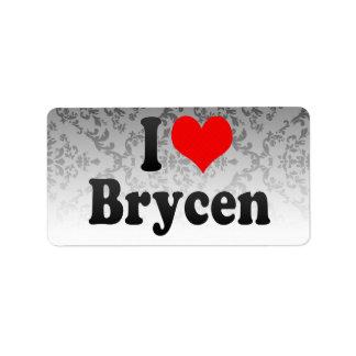 I love Brycen Personalized Address Labels