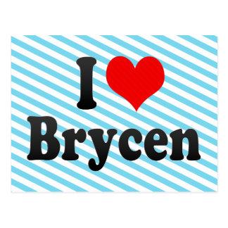 I love Brycen Postcard
