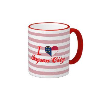 I Love Bryson City, North Carolina Ringer Coffee Mug