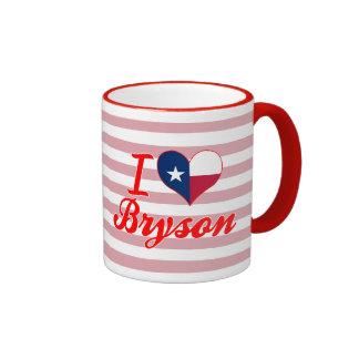 I Love Bryson, Texas Ringer Coffee Mug