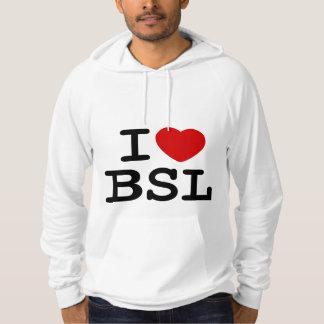 I Love BSL (White) Hoodie