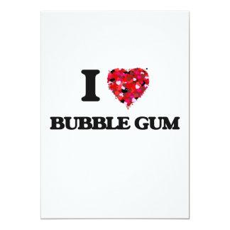 I Love Bubble Gum 5x7 Paper Invitation Card