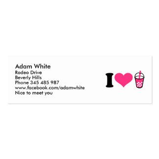I love Bubble Tea Mini Business Card