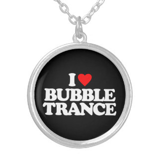 I LOVE BUBBLE TRANCE SILVER PLATED NECKLACE