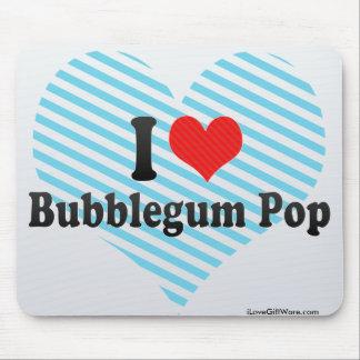 I Love Bubblegum Pop Mousepads