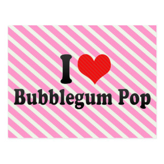 I Love Bubblegum Pop Postcard