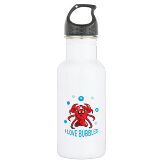 I LOVE BUBBLES STAINLESS STEEL WATER BOTTLE