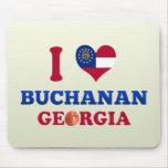 I Love Buchanan, Georgia Mousepads