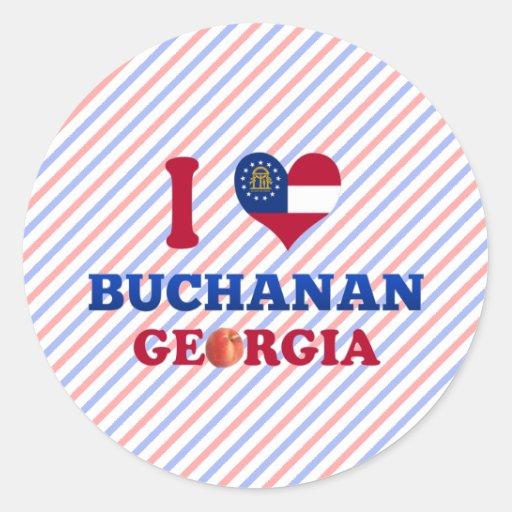I Love Buchanan, Georgia Round Stickers