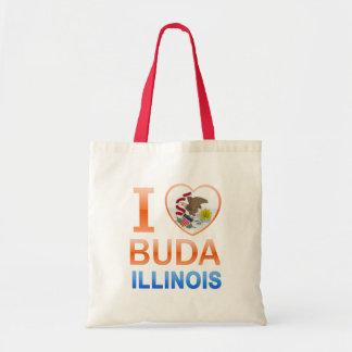 I Love Buda, IL Budget Tote Bag