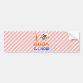 I Love Buda, IL Car Bumper Sticker