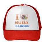 I Love Buda, IL Mesh Hat
