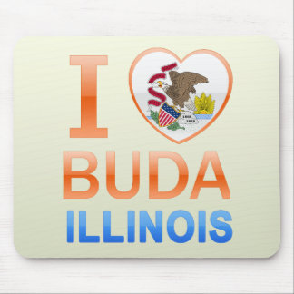I Love Buda, IL Mouse Pad