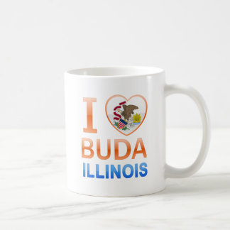 I Love Buda, IL Classic White Coffee Mug