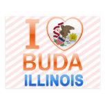 I Love Buda, IL Postcard