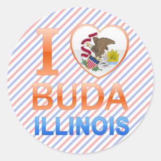 I Love Buda, IL Classic Round Sticker