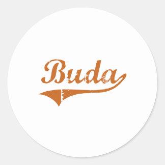 I Love Buda Texas Classic Round Sticker