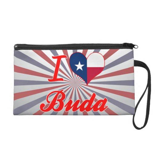 I Love Buda, Texas Wristlet Clutches