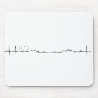 I love Budapest ecg style souvenir Mouse Pads