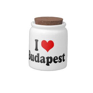 I Love Budapest, Hungary Candy Jars