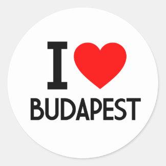 I Love Budapest Round Stickers