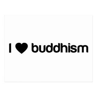 I Love buddhism Postcard