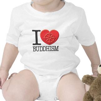 I Love Buddhism Baby Bodysuit
