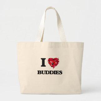 I Love Buddies Jumbo Tote Bag