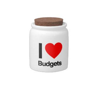 i love budgets candy jar