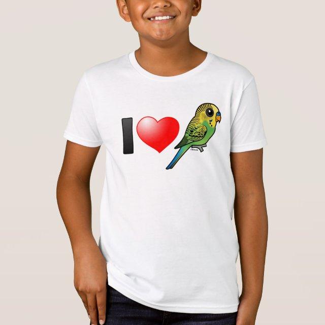 Design Your Own Shirt American Apparel   Customizable Green Budgie Kids American Apparel Organic T Shirt