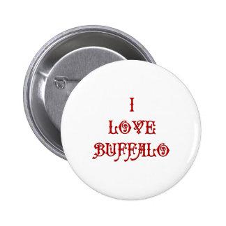 I love Buffalo 2 Inch Round Button