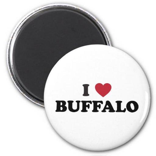 I Love Buffalo 2 Inch Round Magnet