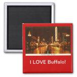 I LOVE Buffalo! 2 Inch Square Magnet