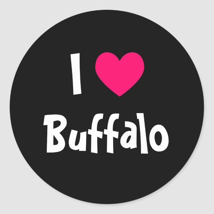 I Love Buffalo Classic Round Sticker