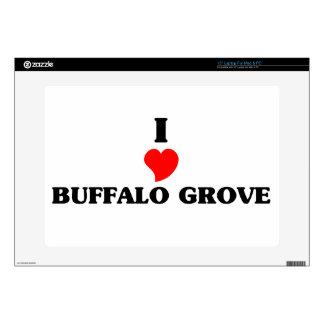 """I love Buffalo Grove 15"""" Laptop Skin"""