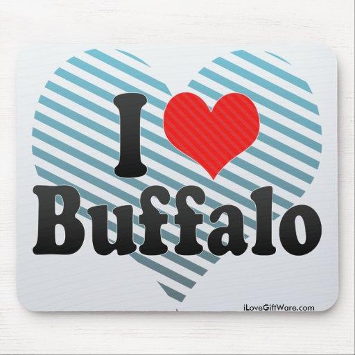 I Love Buffalo Mouse Pad