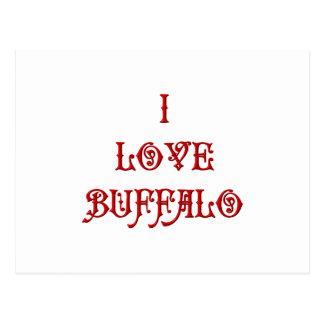 I love Buffalo Postcard
