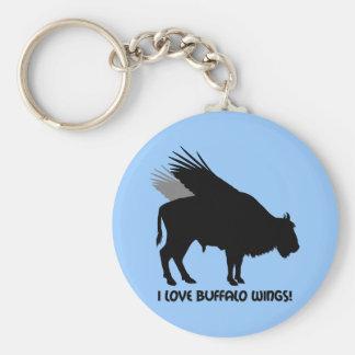 I love buffalo wings basic round button keychain