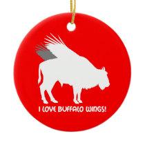 I love buffalo wings ceramic ornament