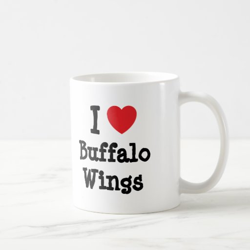 I love Buffalo Wings heart T-Shirt Classic White Coffee Mug