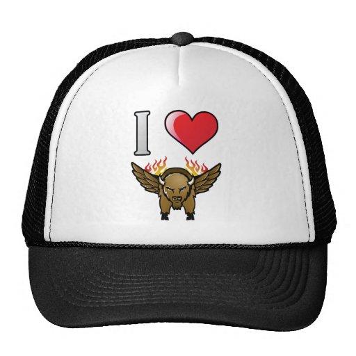 I Love Buffalo Wings Mesh Hats