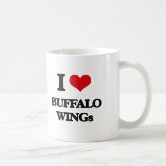 I love Buffalo Wings Basic White Mug