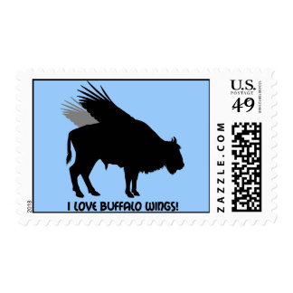 I love buffalo wings postage stamps