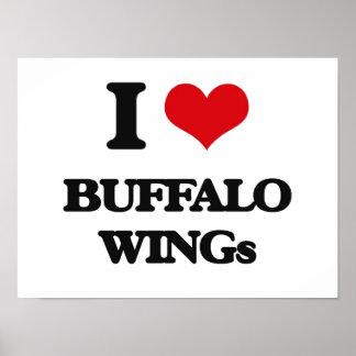 I love Buffalo Wings Poster